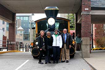 Alums in front of Boilermaker Special