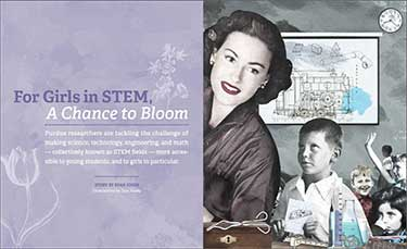 Girls in STEM education book cover